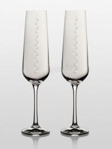 Бокалы для шампанского Sandra Nika Swarovski БК-008