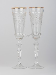 Хрустальные свадебные бокалы БК-018