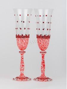 Свадебные бокалы красные БК-032