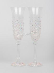 Свадебные бокалы Bohemia с камнями 190ml БК-036