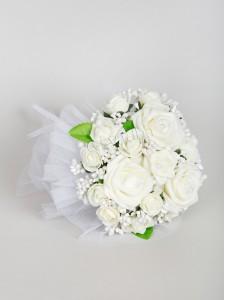 Свадебный букет дублер белые розы 09