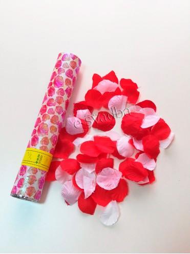 Хлопушка пневматическая «Лепестки роз», 30см 04 купить в Киеве