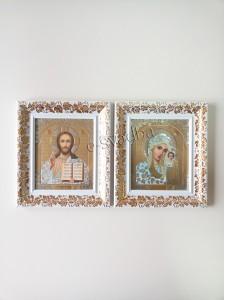 Иконы с белой рамкой и позолотой 043