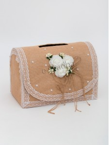Коробка для денег «Рустик» молочная 03