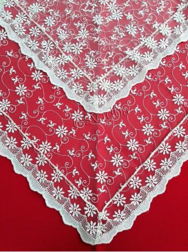 Свадебный платок с нежным кружевом 10 купить в Киеве
