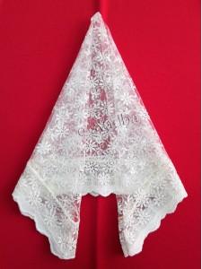 Свадебный платок с нежным кружевом 10