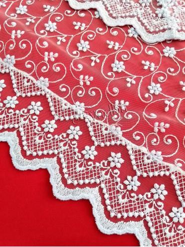 Платок с кружевными краями для невесты белый 11 купить в Киеве