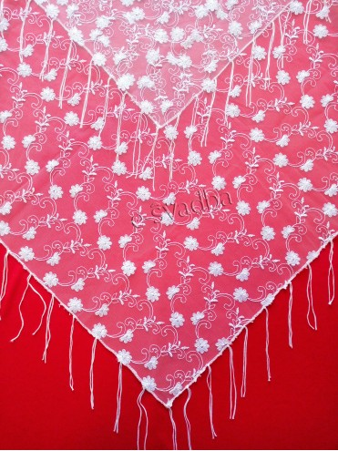 Свадебный платок после снятия фаты белый 02 купить в Киеве