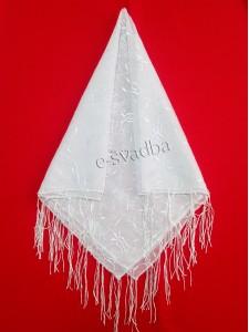 Платок свадебный белый 17