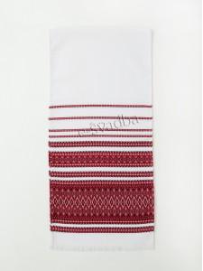 Рушник тканый (машинная вышивка) р-026