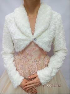 Свадебная шубка с длинными рукавами