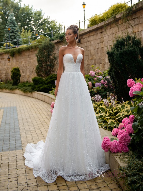 ba10b52be80ea9c Свадебное платье с открытым корсетом