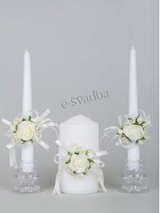 Свадебные свечи с розочками 09св