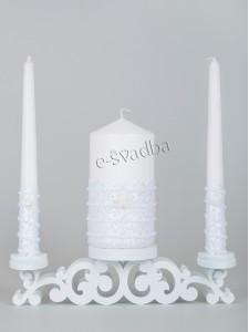Свадебные свечи Семейный очаг белые 22св