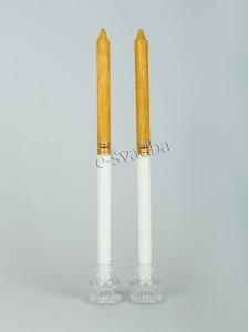 Свечи для декора золото 100 грн./пара 35св