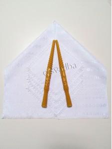 Венчальный набор тканый белый 05