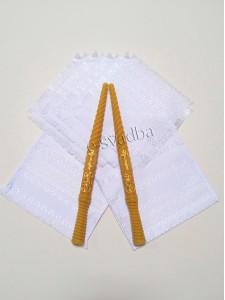Венчальный набор белый из хлопка 06