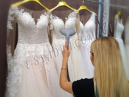 Глажка и отпаривание свадебного платья