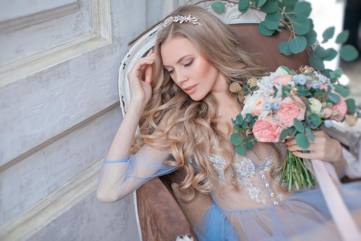Утро невесты в будуарном платье