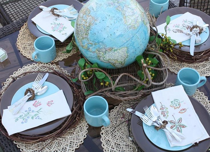 Использование глобуса для свадебных пожеланий