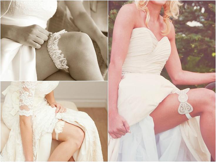 Виды свадебных подвязок