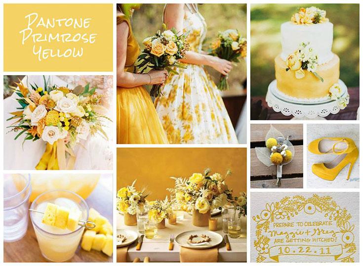 Свадьба в цвете «желтая примула» (Primrose yellow)