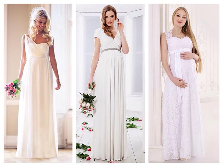 Свадебные платья для беременных на раннем сроке