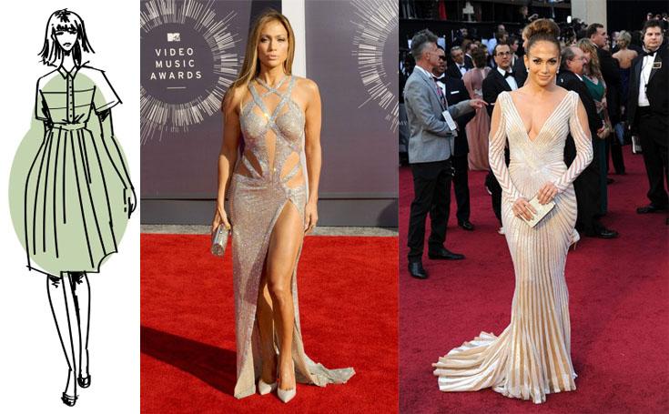 Выбор вечернего платья для фигуры типа «груша»