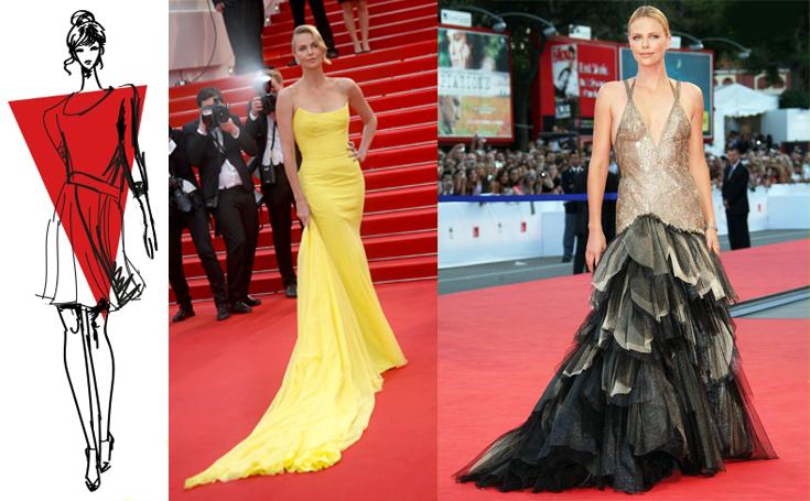 Выбор вечернего платья для фигуры типа «перевернутый треугольник»
