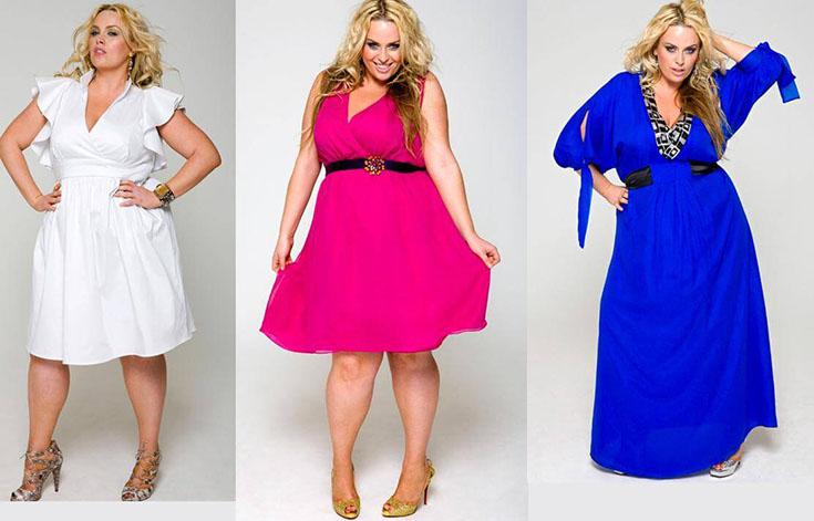 Выбор вечернего платья на полную фигуру